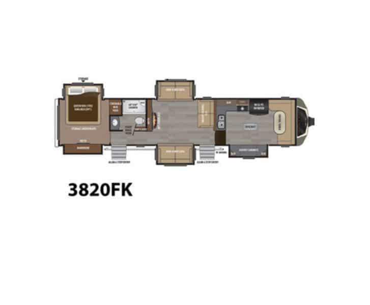 NEW 2017 Keystone MONTANA 3820 FK