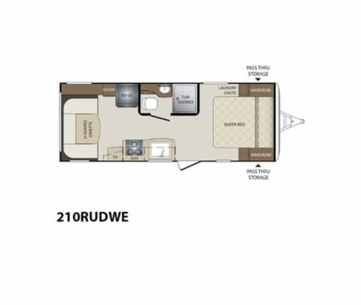 NEW 2017 Keystone BULLET 210 RUD