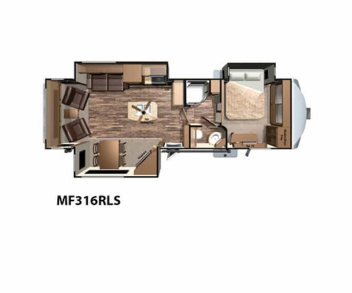 NEW 2017 Highland Ridge RV Mesa Ridge Fifth Wheels MF316RLS