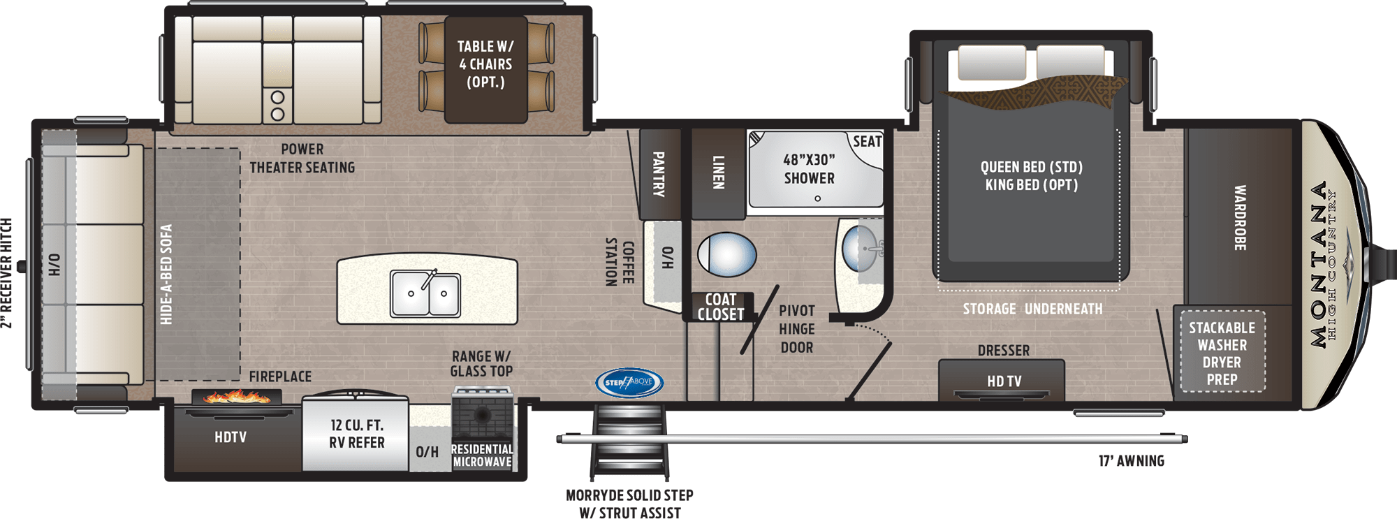 NEW 2019 Keystone MONTANA HIGH COUNTRY 305RL - American RV
