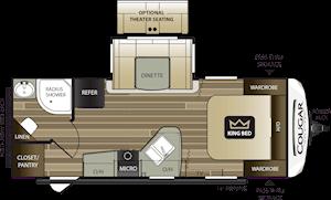 NEW 2018 Keystone COUGAR HALF-TON 22RBS - American RV