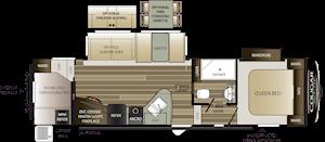 NEW 2019 Keystone COUGAR HALF-TON 29RDB - American RV