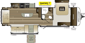 NEW 2019 Keystone COUGAR HALF-TON 32RLI - American RV