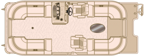 NEW 2018 SYLVAN 8522 LZ Tri Toon W/150HP - Boathouse Marine