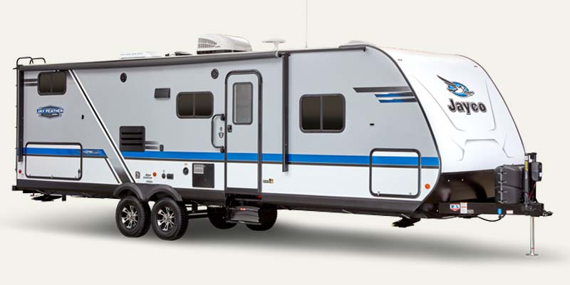 Jay Feather ultra lite travel trailers.