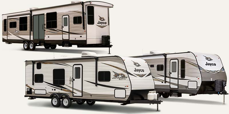 Jayco Jay Flight travel trailers.