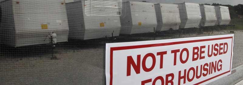 FEMA trailer sales in Oklahoma