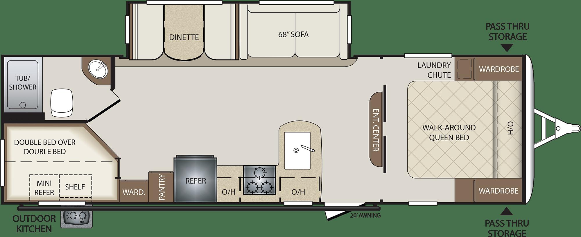 NEW 2018 Keystone BULLET 277 BHS