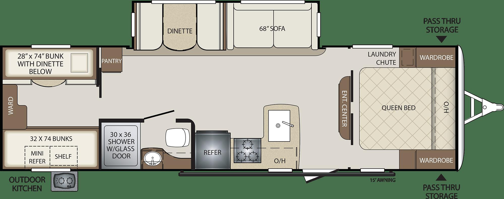 NEW 2018 Keystone BULLET 287 QBS