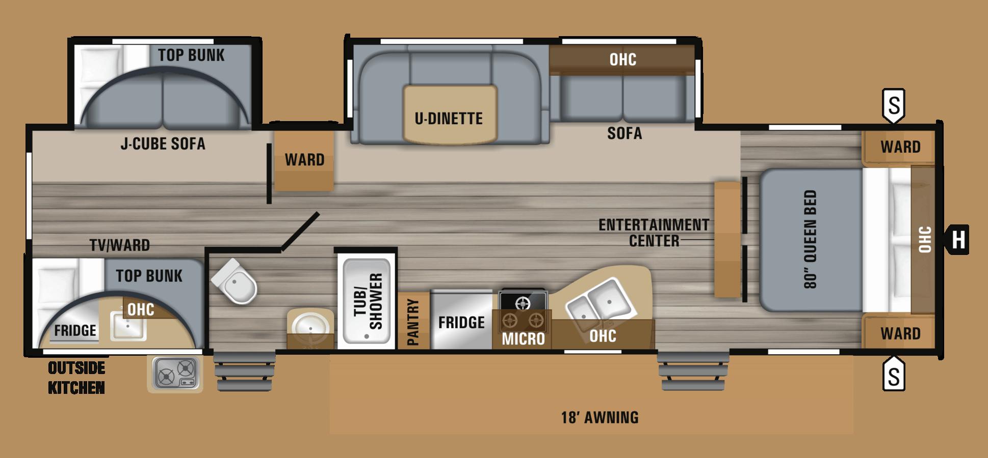 NEW 2019 Jayco JAY FLIGHT 32BHDS - Rick's RV Center