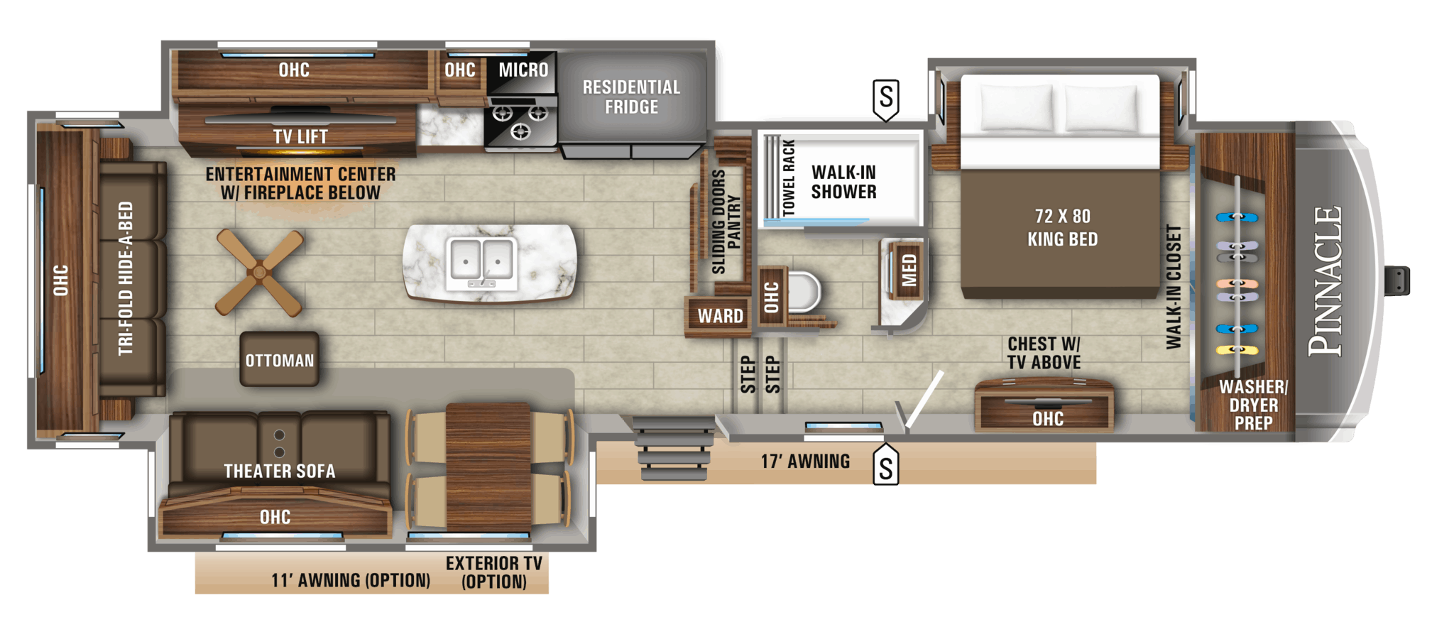 NEW 2019 Jayco PINNACLE 36KPTS - Rick's RV Center