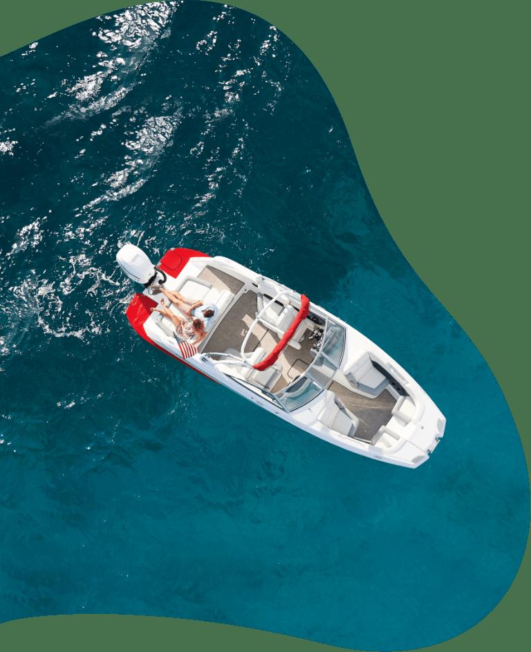 Top View of Coabalt Boat