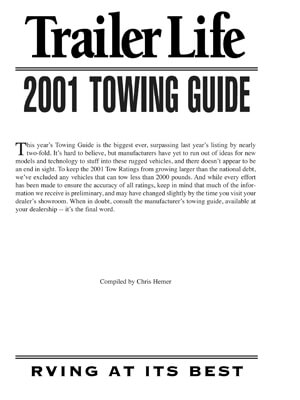 Download 2001 Towing Guide